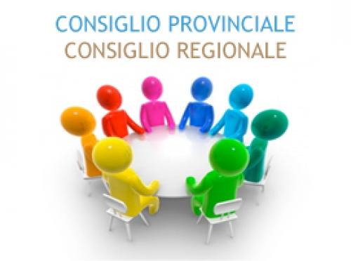 CONSIGLIO REGIONALE E PROVINCIALI LUNEDI 16 GENNAIO